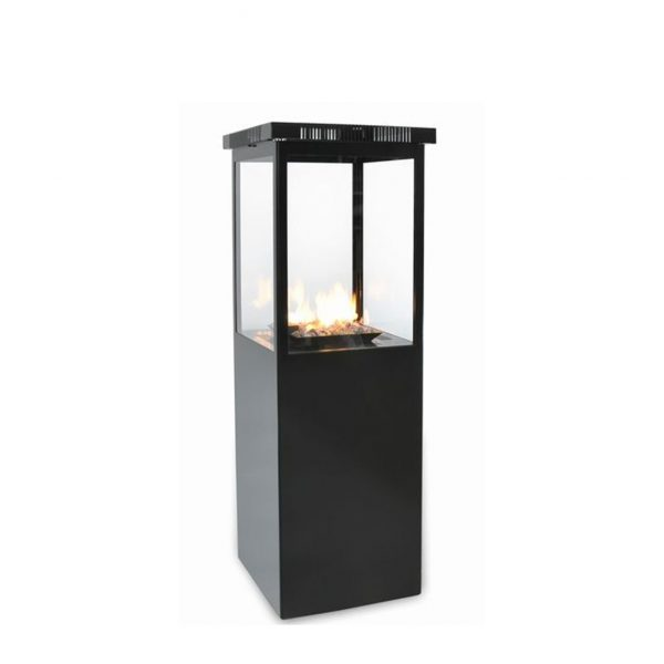 estufa exterior a gas sunwood marino negra